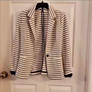 Express Blazer, white w/black stripes small